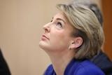 Michaelia Cash looks to the ceiling during senate estimates