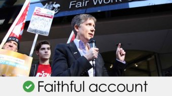 Sally McManus's claim is a faithful account