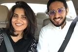 Saudi couple Fahad al-Butairi and Loujain al-Hathloul