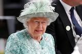 Britain's Queen Elizabeth at the Ascot Racecourse on June 23, 2018.