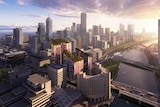 New residential development in Melbourne's South Bank