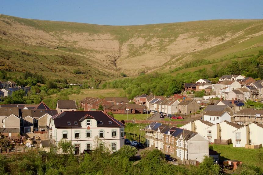 The town of Blaengarw in Wales