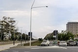 An artist's impression of Northbourne Avenue without trees