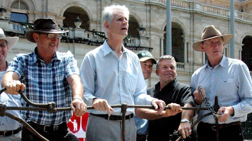 Parliament protest: Farmers rally against coal seam gas mining.