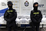 AFP officers with pseudoephedrine after bust in Melbourne