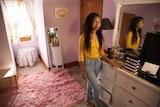 Fifteen-year-old Ramani Wilson in her bedroom in Washington, D.C.