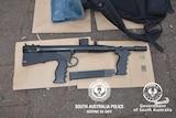 A machine gun seized by SA Police.