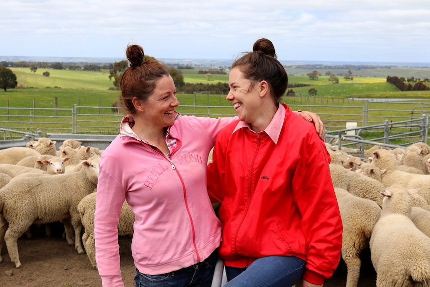 Amy and Bridie Tierney farm together at Carapook in south-west Vic