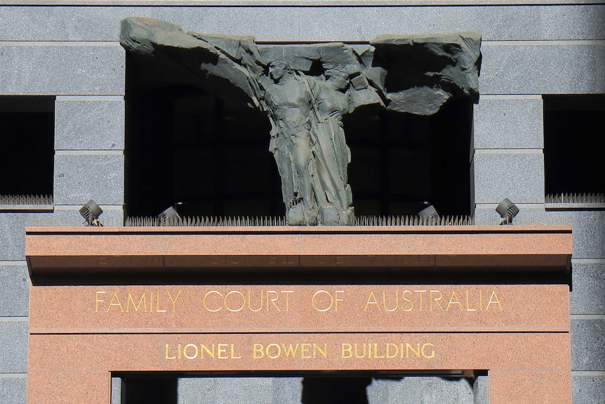 Exterior of the Family Court building in Sydney.