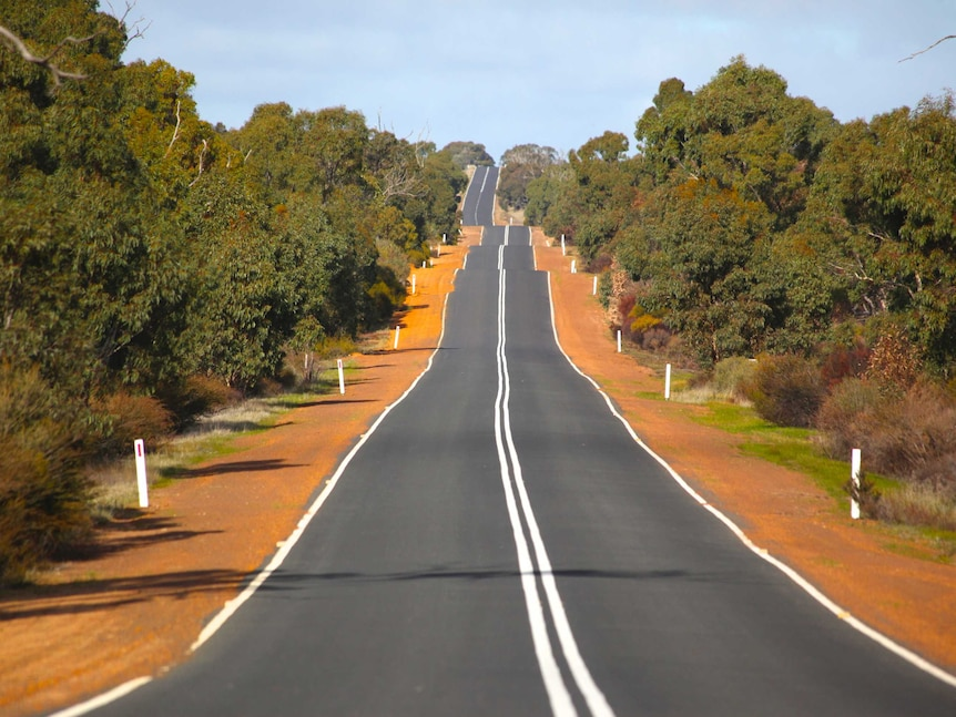 A country road in rural Victoria