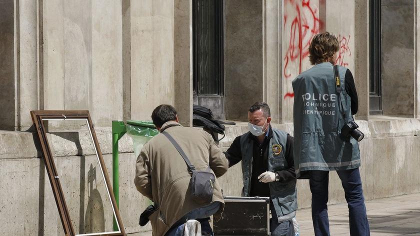 Police work at scene of Paris art heist