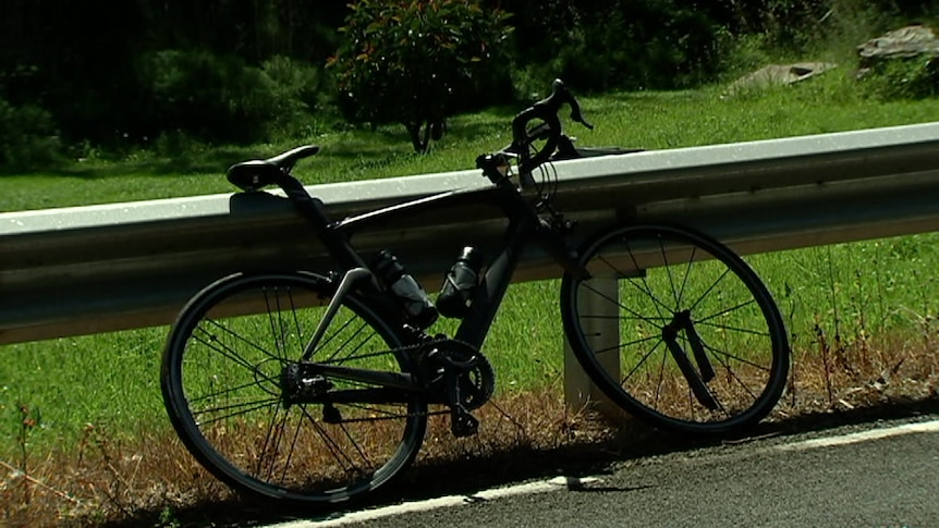 The bike sustained significant damage to its front frame.