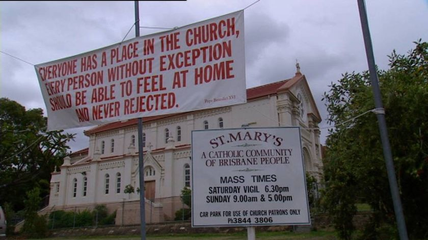 The Archbishop of Brisbane previously warned Father Peter Kennedy to stop flouting church rules or face the sack.