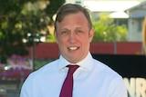 Queensland Deputy Premier Steven Miles addressing the mediaon COVID-19