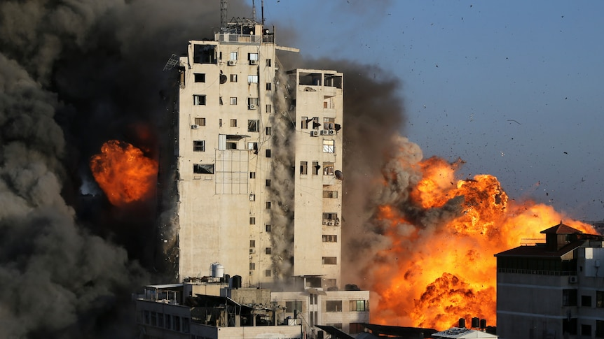 Gaza building collapses
