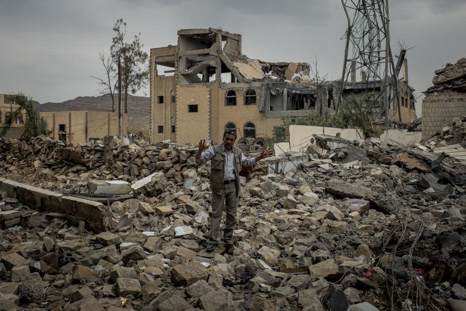 Destroyed buildings in the northern city of Sada'ah.