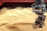Sugar bulk carrier Shuwa being loaded with high-polarity Brand 1 sugar bound for Japan