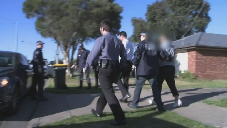 Video of the raid at Seabrook, Melbourne released by the AFP