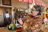 Julie Finch owns the Kaniva Puppet Shop in western Victoria.