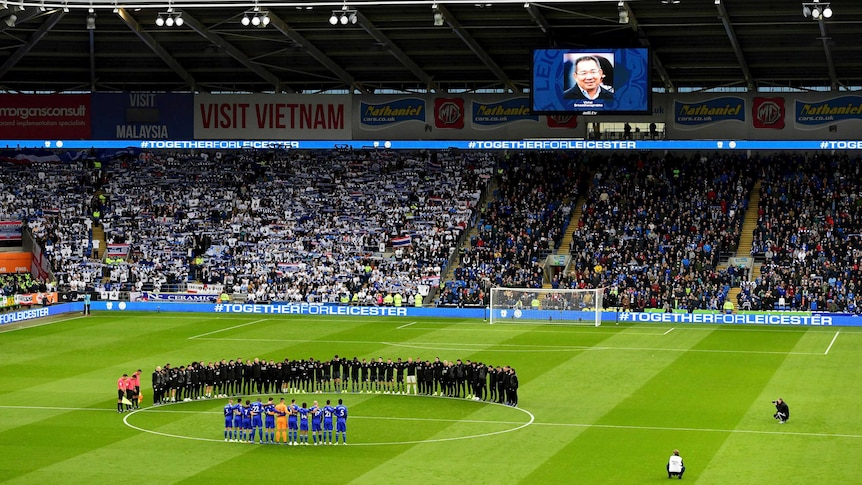 Minute silence for victims of King Power Stadium helicopter crash