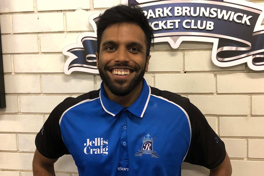 Royal Park Brunswick Cricket Club player Aniket Gupta in Melbourne.