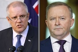 Side by side photos of Anthony Albanese and Scott Morrison