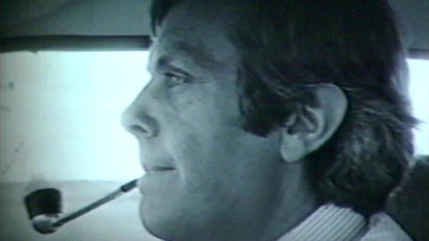 Anti-drugs campaigner Donald Mackay driving a car.