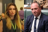 A composite image showing Vikki Campion and Barnaby Joyce.