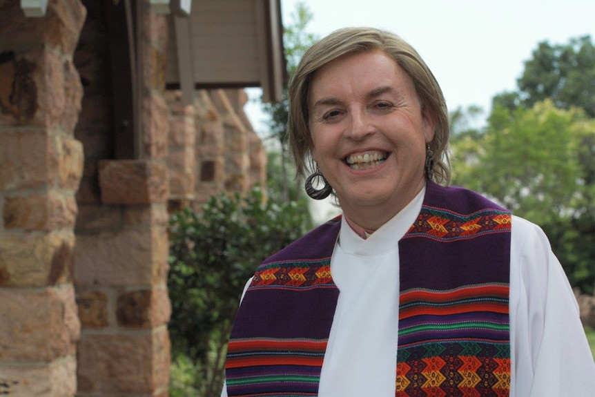 Australia's first openly-transgender priest, Jo Inkpin.