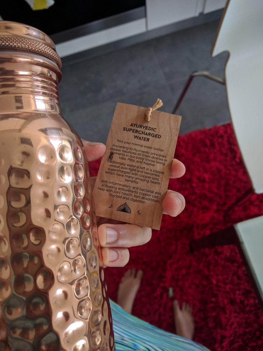 Health claims of copper water bottles