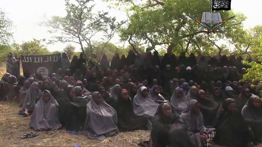 The girls were among 276 students abducted from a secondary school in 2014 (AP, file photo)
