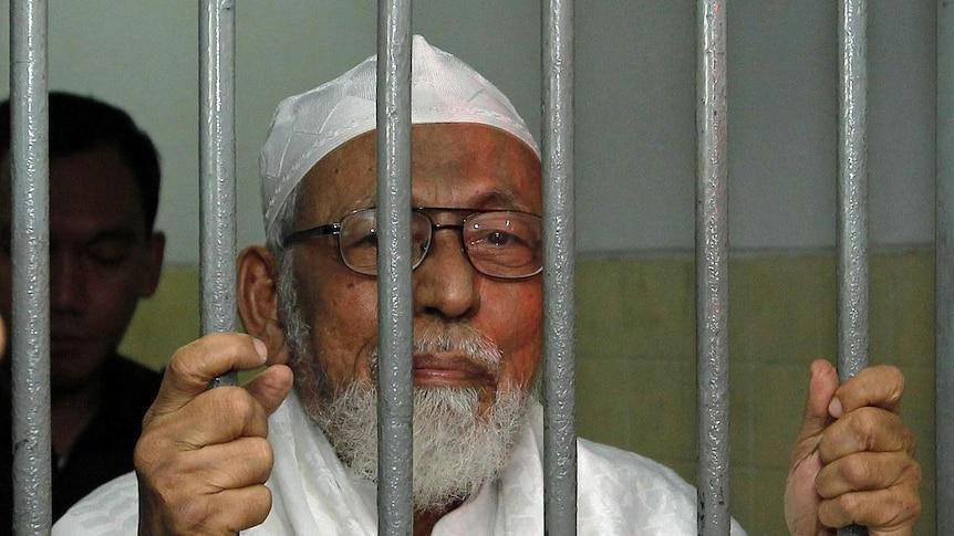 Indonesian militant cleric Abu Bakar Bashir behind bars