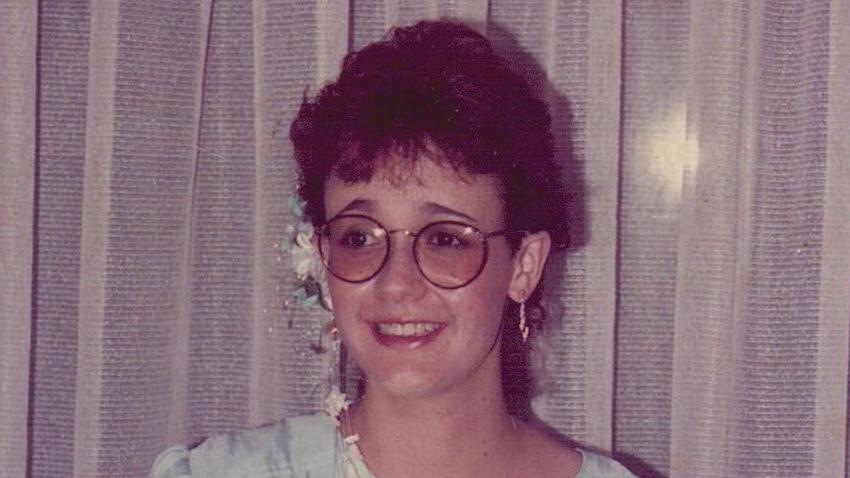 A woman wearing a party dress