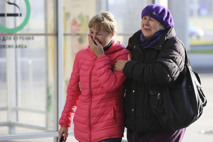 Relatives of passengers on crashed Russian jet wait at airport