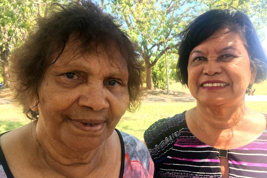 NT Stolen Generations Aboriginal Corporation chairwoman Eileen Cummings and CEO Maisie Austin.