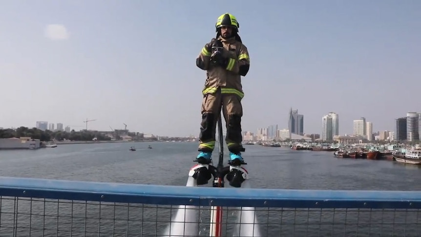 A promotional video from Dubai Civil Defence shows the Dolphin in action
