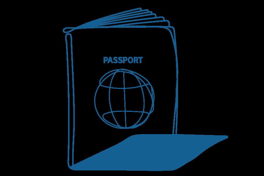 An illustration of a passport.