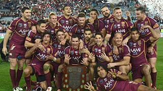 Queensland Origin team celebrates