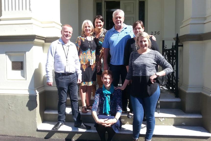 ABC staff outside the Capricornia office in Quay St Rockhampton