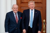 Donald Trump, right, stands next to Rudy Giuliani.