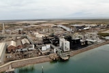 An aerial photo of the Port Pirie lead smelter.