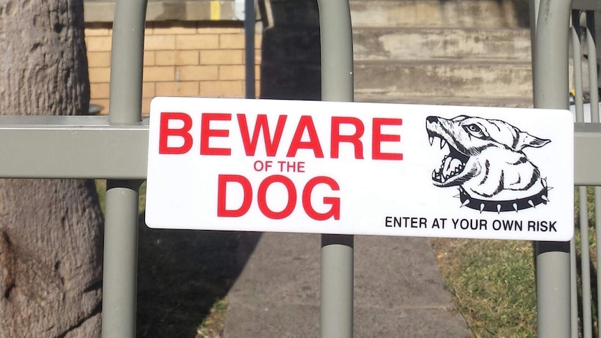 'Beware of the dog' sign outside a house
