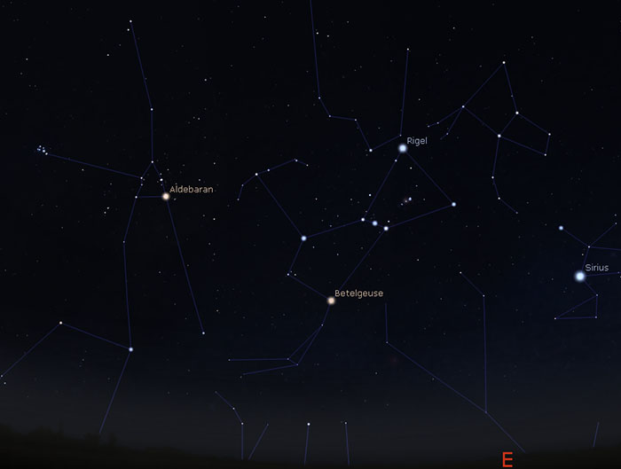 Star map of Orion