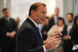 Tony Abbott speaks during the opening of The Shepherd Centre