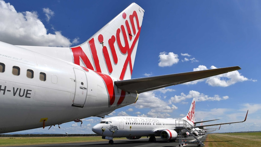Grounded Virgin Australia aircraft