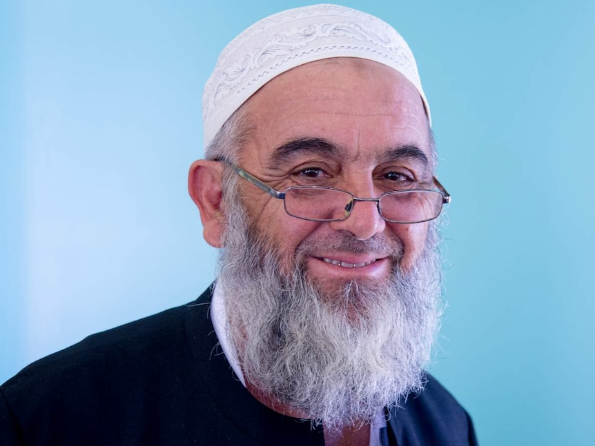 A portrait picture of Mareeba Mosque Imam Benjamin Murat taken inside the mosque during the open day event.