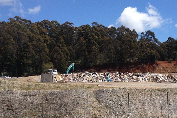 Ulverstone tip, site of a police search for Noel Joseph Ingham.