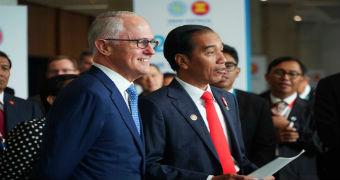 Malcolm Turnbull and Joko Widodo at ASEAN