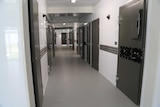 The corridor of a new modular prison cell