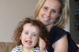 Tasmanian cancer survivor Louise Elliot and daughter Esther.